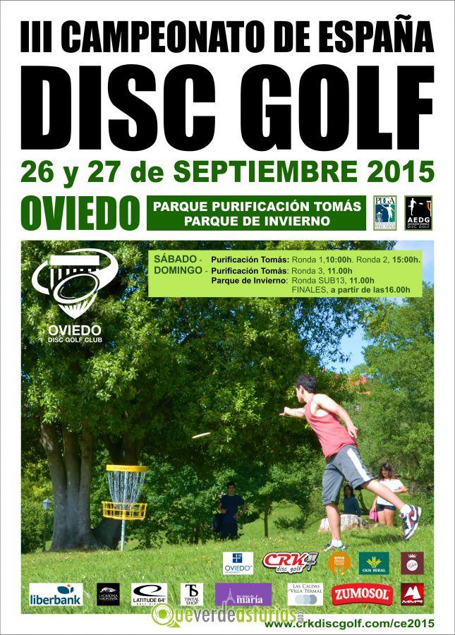 III Campeonato de España de Disc Golf 2015