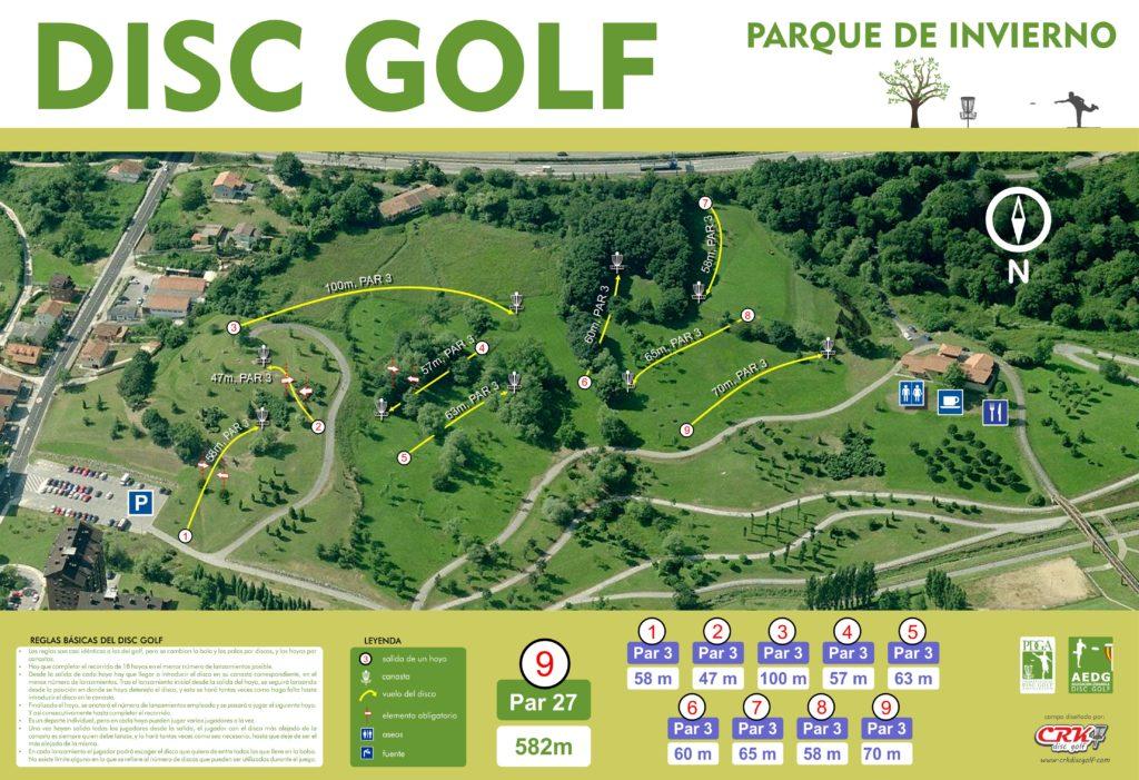 Primer campo de Disc Golf de España: Parque de Invierno de Oviedo