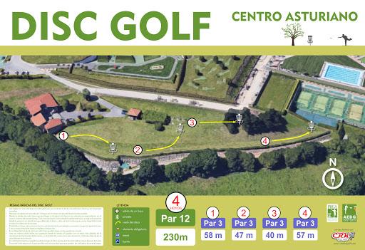 Campo de Disc Golf en el Centro Asturiano de Oviedo